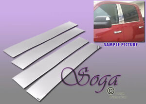 FOR 2010-2017 DODGE RAM 2500 3500 EXTED CAB CHROME B PILLAR POST STAINLESS STEEL