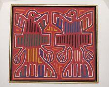 Mola Art 60s Vintage San Blas Kuna Handmade Textile Fabric Ethnic Framed unknown