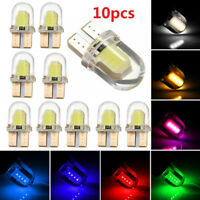 10x LED T10 194 168 W5W COB 8-SMD CANBUS Silica Bright White License Light Bulbs