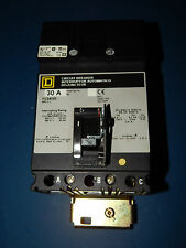 Square D FC34030 Circuit Breaker 30Amp 480Volt 3Pole with Mounting Bracket