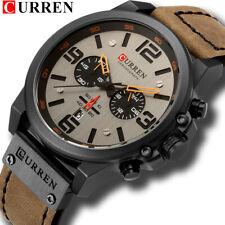 CURREN Men Watch Top Brand Men Military Sport Wristwatch Leather Quartz Watches