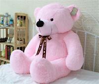 Neu Riesen Großen Rosa Plüsch Teddybär Riesige Weiche 100 % Baumwolle Puppe