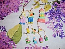 7 TINY MINIATURE EASTER ORNAMENTS AND 3 MORE BIGGER SIZE