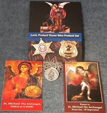 Police Officers Medal Necklace with St. Michael,  FREE Prayer Card and Magnet