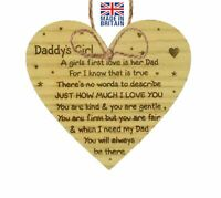 Oak Veneer Daddy's Girl Fathers Day Gift Idea Daddy Dad Wooden Plaque Sign