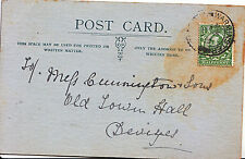 Genealogy Postcard - Cunnington & Sons - Old Town Hall - Devizes   503A