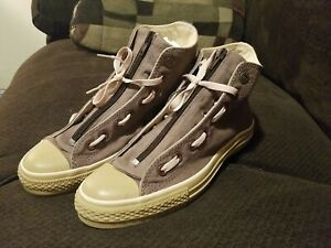 RARE Converse Chuck Taylor All Star Zip Up Khaki/Brown 100287 Mens Size 8/Wm 9.5