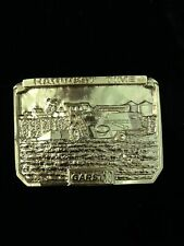 Vintage 1989 Collector Garst Seed Company Farming Agriculture Corn Belt Buckle