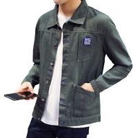Men's Button Denim Casual Shirts Long Sleeved Jeans Dress Shirts Jackets LMH15