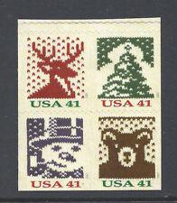 US Scott # 4207v- 4210v / 4210v Block of 4 from DS 2007 Holiday Christmas Pane