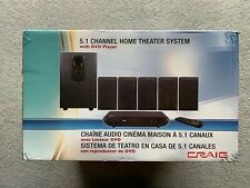 Craig 5.1 Channel Home Theater System with DVD Player CHT754 - New!!