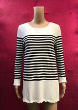 Country Road Bateau Stripe T-shirt, black & white size (AUS) 10, small