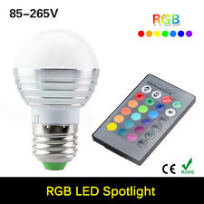 Kit! 3W E27 16 Colors Changing RGB LED Light Bulb Lamp+IR Remote Control 85-265V