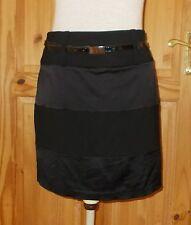 PRINCIPLES black short mini stretch pencil skirt satin stripe WOOL 10 38 BNWT