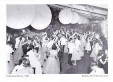 "+Pc-Postcard-""Christ mas Dance, 1957""-Ordway(Wright Bldg) *Florida College (#218)"