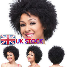 UK Womens Afro Short Curly Wavy Fluffy Kinky Hair Wigs Cosplay Party Costume