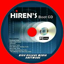 HIRENS BOOT UTILITY PC CD VIRUS MALWARE CLEANERS MBR TOOLS TEST FIX RECOVERY NEW