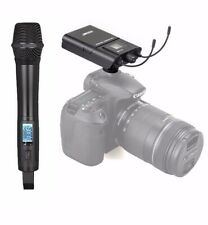 Professional Wireless Handheld Microphone used for DSLR Camera Interview Video