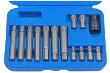 "US Pro Por Bergen 14pc 1/2""Dr Ribe Socket Bit Set M5-M14 Polydrive 30-75mm B1168"