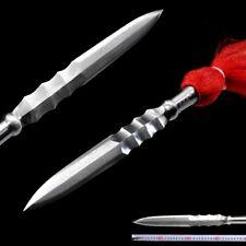 Hand Forged pattern steel blade sharp Lv Chen Green sunk spear pike lance #101