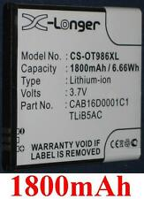 Batterie 1800mAh type CAB16D0003C1 CAB16D0001C1 Pour Alcatel One Touch 986