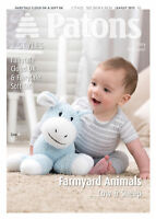 1x Patons Pattern Farmyard Animal Toys Sewing Craft Tool Hobby Art UK