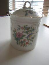 "Aynsley English Bone China Biscuit Candy Jar PEMBROKE 6 1/4 "" tall"