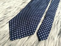 Brooks Brothers Makers Italian Silk Blue Polka Dot Made in USA Tie Necktie