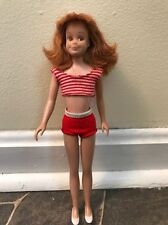 Vintage 1963 Mattel Barbie Scooter Doll Titan Hair Straight Leg Orig. Clothes