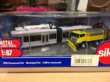 SIKU,escala 1:87,ref.1816,Conjunto municipal,tranvia,camion basura y servicios