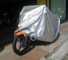 """Silver MOTORCYCLE SPORT BIKE COVER STREET STORAGE COVERS SHELTER 86"""" LENGTH NEW"""
