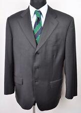 BOGGI MILANO 100% Wool Blazer UK 42 Men's EUR 52 Suit Black Jacket Fancy Italy
