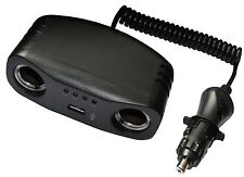 Multiprise rallonge 1m pour allume-cigare 10A 12V USB 5V auto voiture caravane