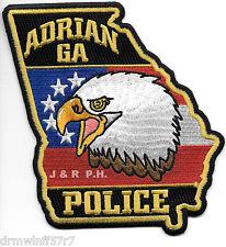 "Adrian, GA  (4.5"" x 5"" size)  shoulder police patch (fire)"