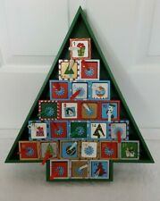 Christmas Wooden Advent Calendar 24 Box Drawers  Tree Shaped (no toys)