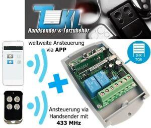 TKL WF universal 2-Kanal Funkempfänger 433 MHz + WLAN/WIFI über APP Garagentor