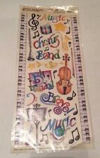 Creative Imaginations Scrapbook Stickers Music Instruments Band Embellishments