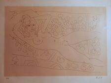 Lithographie nue feminin femme nue Aizpiri école peinture française basque