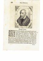 1666 Crasso Ritratto: Fortunio Liceti (Rapallo 1577–Padova 1657) Scienziato