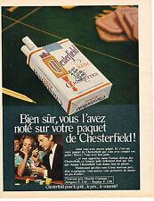 PUBLICITE  1968   CHESTERFIELD  cigarettes