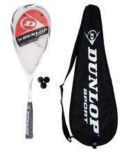 Dunlop Max Lite Titanium Squash Raqueta + 3 pistas de squash Balls RRP £ 155