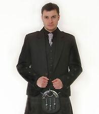 Scottish grey Argyle Veste & Gilet aspect Os Bouton Ex Location £ 99 Lots De Tailles