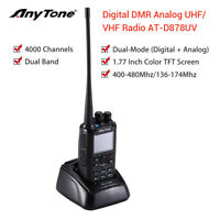 AnyTone AT-D878UV GPS Dual Band DMR And Analog VHF UHF Two Way Ham Amateur Radio