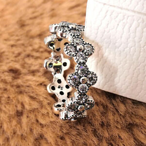 NEW 100% Authentic 925 Sterling Silver Moment Oriental Blossom Ring Clera CZ