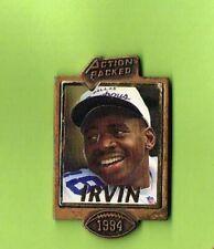 1994 Michael Irvin Cowboys Action Packed Football FB Logo NFL Lapel Pin