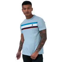 Mens Pretty Green Brydon T-Shirt in Blue.