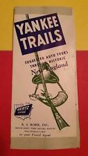 RARE VINTAGE 1940's YANKEE TRAILS AUTO TRAVEL GUIDE of NEW ENGLAND HERTZ RENTALS