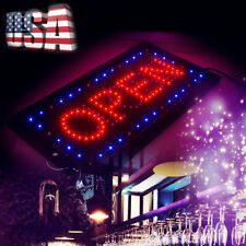 2in1 Ultra Bright Led Neon Light Animated Motion w/ On/Off Open Business Sign Us