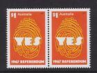 Australia 2017 : 1967 Referendum - $1 Joined pair, MNH