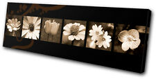 Floral Abstract Flowers SINGLE DOEK WALL ART foto afdrukken